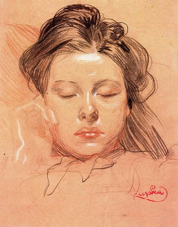 Sleeping-face Frantisek Kupka